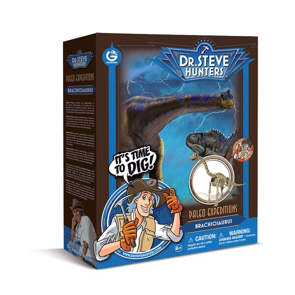 Geoworld Dr. Steve Hunters Paleo Expeditions Brachiosaurus Dino Excavation Kit