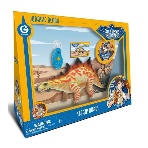 Geoworld Dr. Steve Hunters Plastic Large Jurassic Action Stegosaurus 19399256