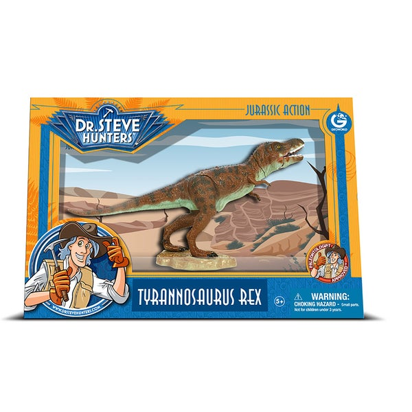 Geoworld Dr. Steve Hunters Medium Jurassic Action T. Rex 19399261