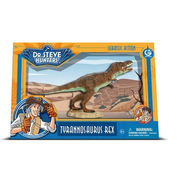 Geoworld Dr. Steve Hunters Medium Jurassic Action T. Rex 19399261
