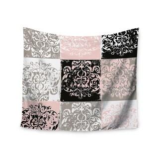 KESS InHouse Chickaprint 'Damaskmix' Pink Gray 51x60-inch Tapestry