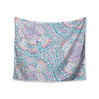 KESS InHouse Miranda Mol 'Kaleidoscopic White' Aqua Abstract 51x60-inch Tapestry