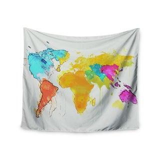 Kess InHouse Oriana Cordero 'World Map' 51x60-inch Wall Tapestry