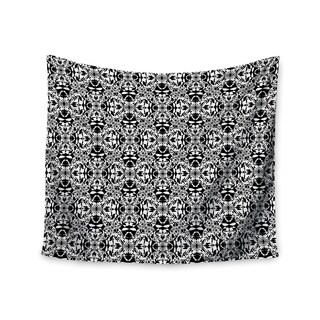 Kess InHouse Mydeas 'Diamond Illusion Damask Black & White' 51x60-inch Wall Tapestry