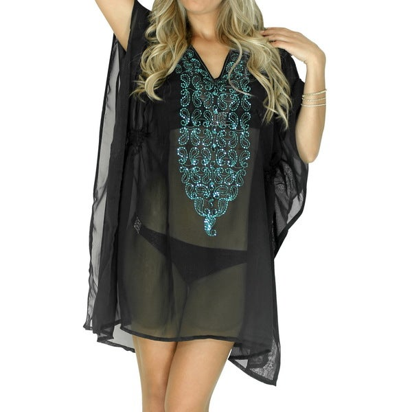 La Leela Dresses Kimono Poncho Beach Wear Bikini Cover up Tank Top Tunic CamiSole Hawaii