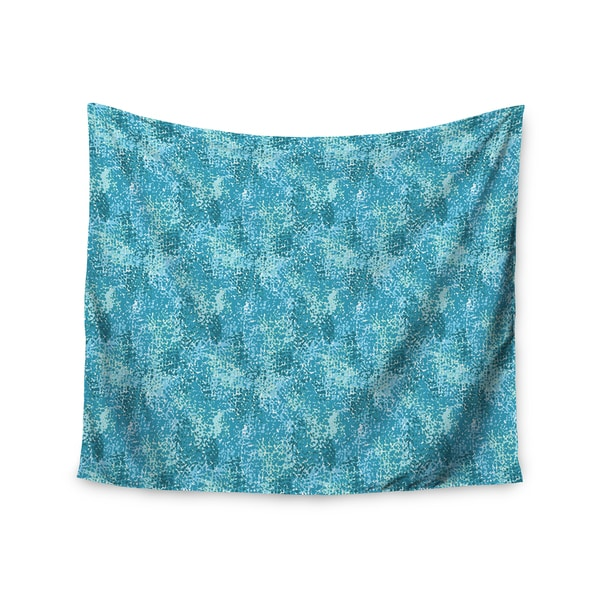 Kess InHouse Carolyn Greifeld 'Painterly Blues' 51x60-inch Wall Tapestry