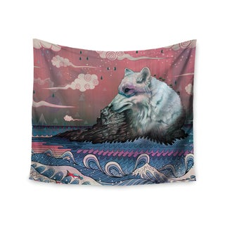 Kess InHouse Mat Miller 'Lone Wolf' 51x60-inch Wall Tapestry