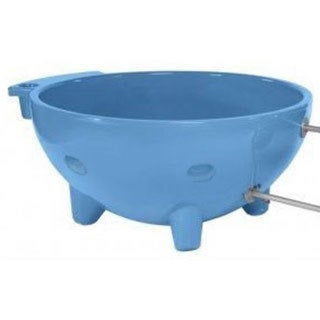 ALFI Brand Light Blue Round Fiberglass Portable Outdoor Hot Tub