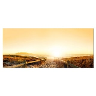 Designart 'Beach near Cape Town Panorama' Photo Metal Wall Art