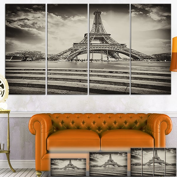 Eiffel Tower in Gray Shade - Landscape Large Wall Art