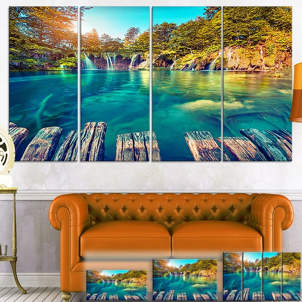 Blue Waters in Plitvice Lakes - Landscape Large Wall Art