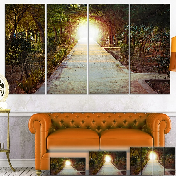 Path to Magical Mystery Woods - Landscape Photo Canvas Print