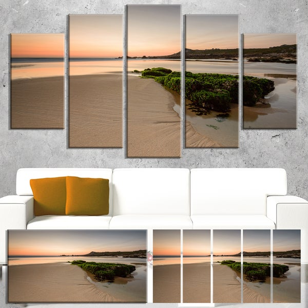 Beach at Sunset in Spain - Seashore Photography Canvas Print