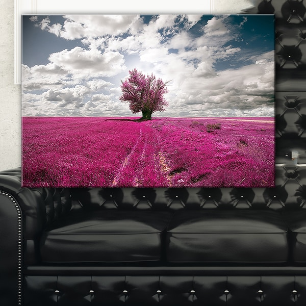 Purple Tree Dreamscape - Landscape Photo Canvas Print