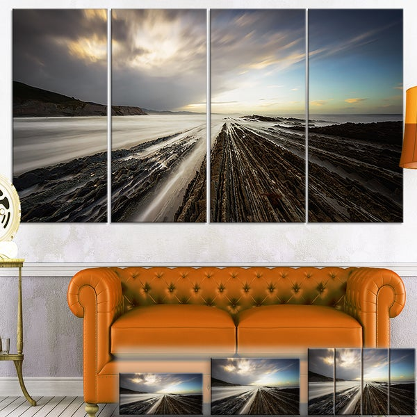 Surreal Atlantic Ocean Coast - Seashore Photo Canvas Art Print
