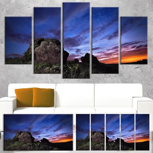 Summer Night Blue Sky - Landscape Photography Canvas Print