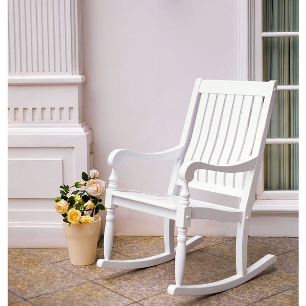Lyon White Mahogany Porch Rocker
