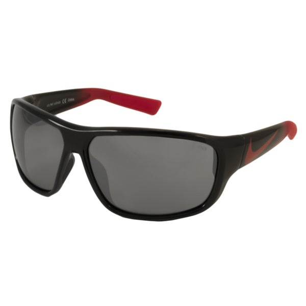 Nike EV0781 Mercurial 8.0 Men's/ Unisex Wrap Sunglasses in Black/Grey w/Silver(As Is Item)