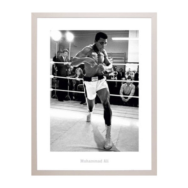 'Muhammad Ali' Training 24-inch x 32-inch Print With Poly White Frame