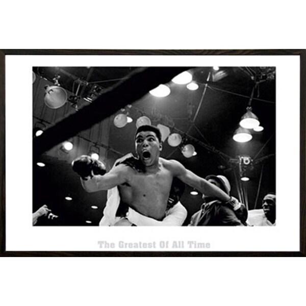 Muhammad Ali 'The Greatest' 24-inch x 32-inch Walnut Architect-framed Print