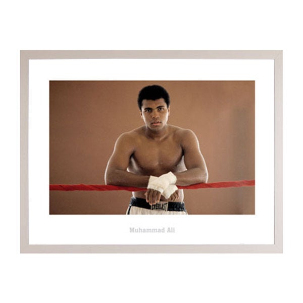 Muhammad Ali Ropes Print with Simply White Polystyrene Frame