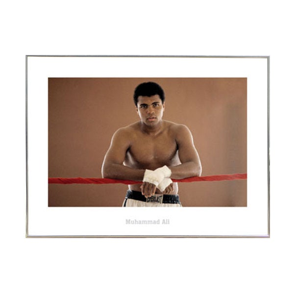 Muhammad Ali Ropes Print with Silver Metal 24-inch x 32-inch Frame
