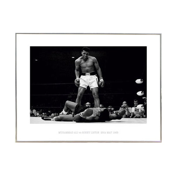 Muhammad Ali Poster Print with Silver Metal Frame