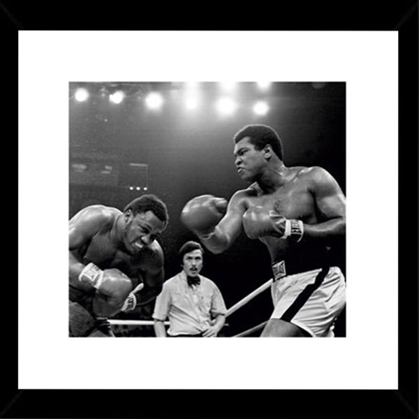 Muhammad Ali Thrilla 16-inch x 16-inch Print with Black Wood Frame