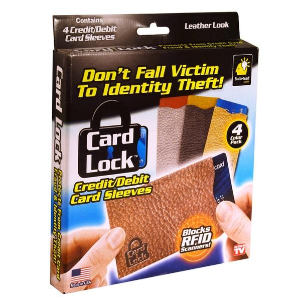 Pocket Hose Leather Card Lock Sleeves (Pack of 4)