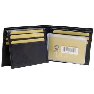 Punita Group Black Lambskin Leather Bi Fold Wallet