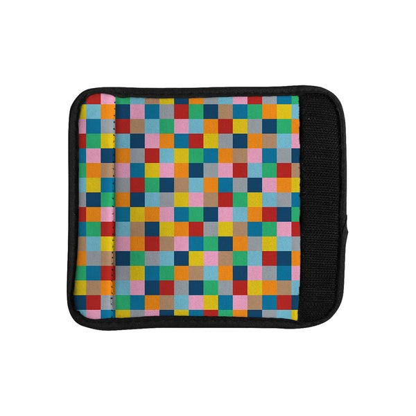 KESS InHouse Project M 'Colour Blocks Zoom' Geometric Rainbow Luggage Handle Wrap