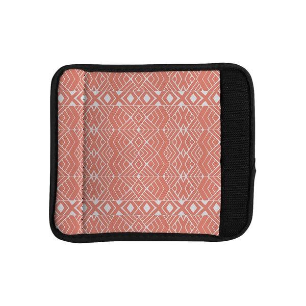 KESS InHouse Pom Graphic Design 'Aztec Roots' Orange Tribal Luggage Handle Wrap