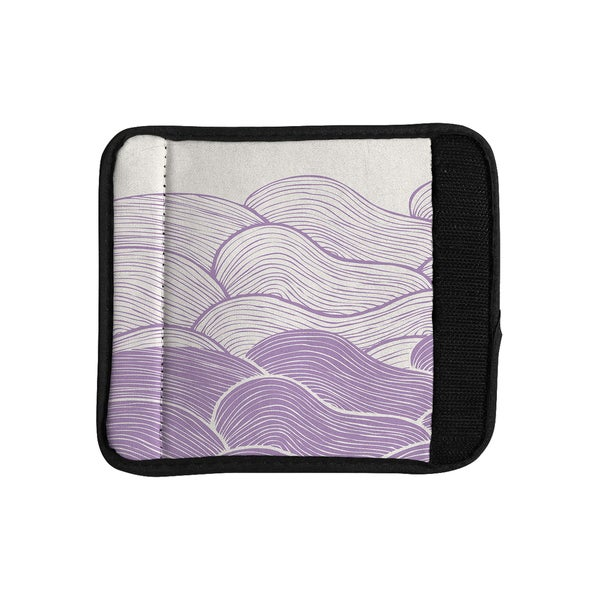 KESS InHouse Pom Graphic Design 'The Lavender Seas' Purple Waves Luggage Handle Wrap
