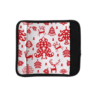 KESS InHouse Miranda Mol 'Frosted Landscape White' Red Holiday Luggage Handle Wrap