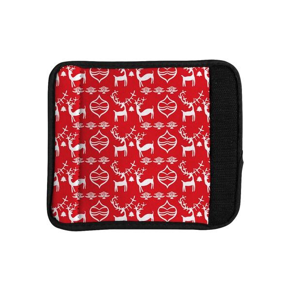KESS InHouse Miranda Mol 'Antler Fun Red' Holiday Luggage Handle Wrap