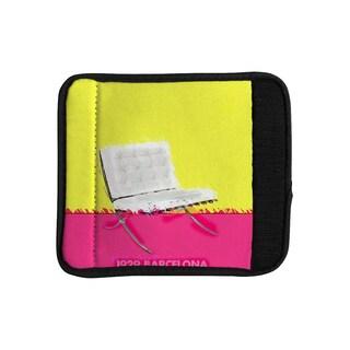 KESS InHouse Oriana Cordero 'Barcelona Chair' Pink Yellow Luggage Handle Wrap