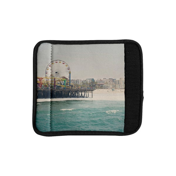 KESS InHouse Laura Evans 'The Pier at Santa Monica' Coastal Teal Luggage Handle Wrap