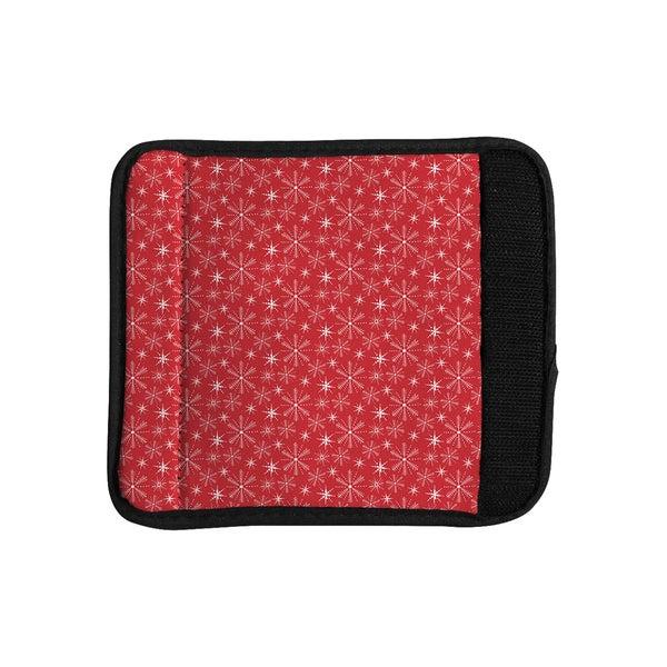 KESS InHouse Julie Hamilton 'Snowflake Berry' Holiday Luggage Handle Wrap