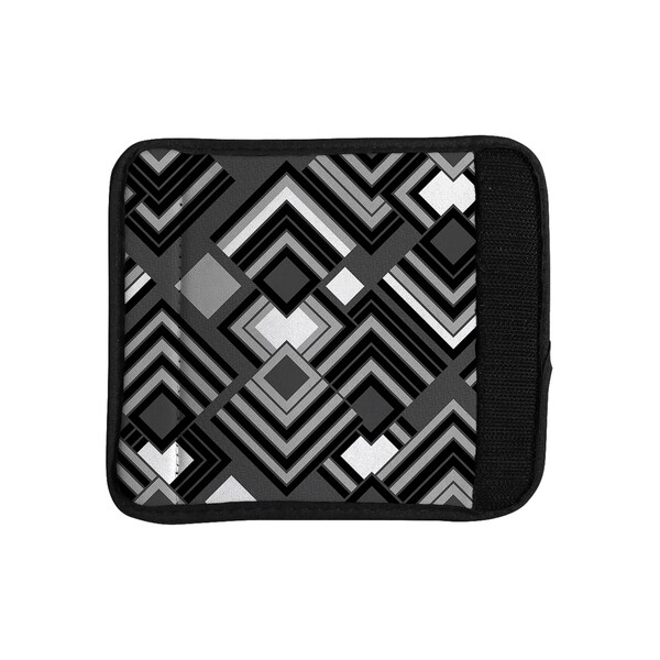 KESS InHouse Jacqueline Milton 'Luca - Monochrome' Black White Luggage Handle Wrap