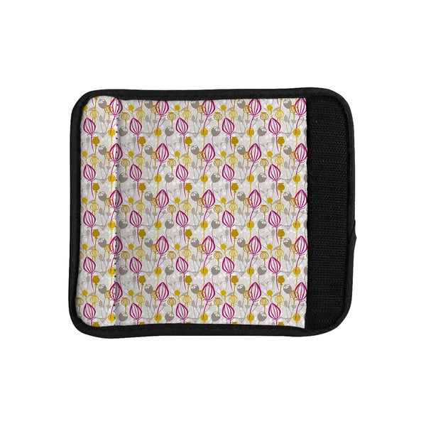 KESS InHouse Julie Hamilton 'Mulberry' Pink Yellow Luggage Handle Wrap