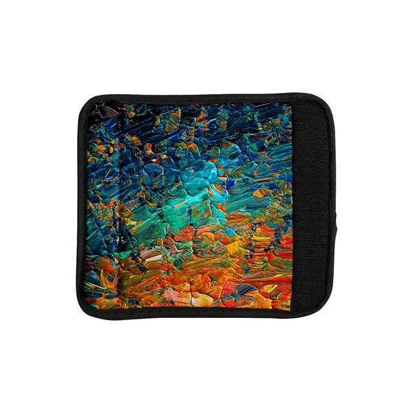 KESS InHouse Ebi Emporium 'Eternal Tide II' Teal Orange Luggage Handle Wrap