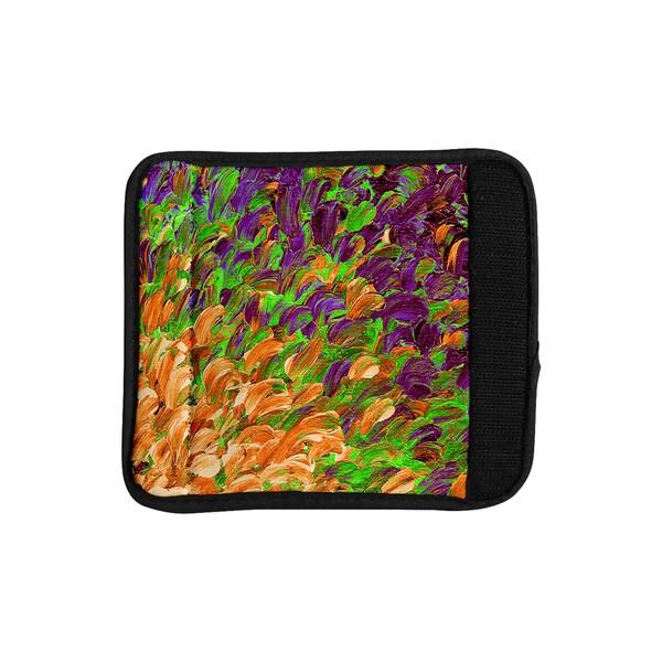 KESS InHouse Ebi Emporium 'Follow the Current III' Orange Green Luggage Handle Wrap