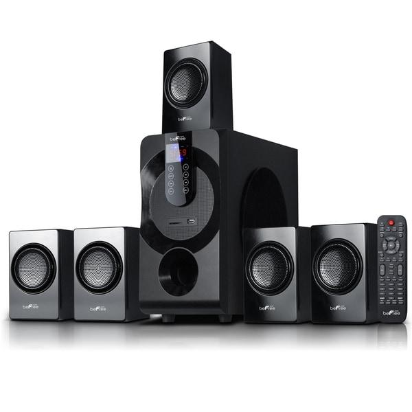 beFree Sound 5.1 Channel Surround Sound Bluetooth Black Speaker System 19407384