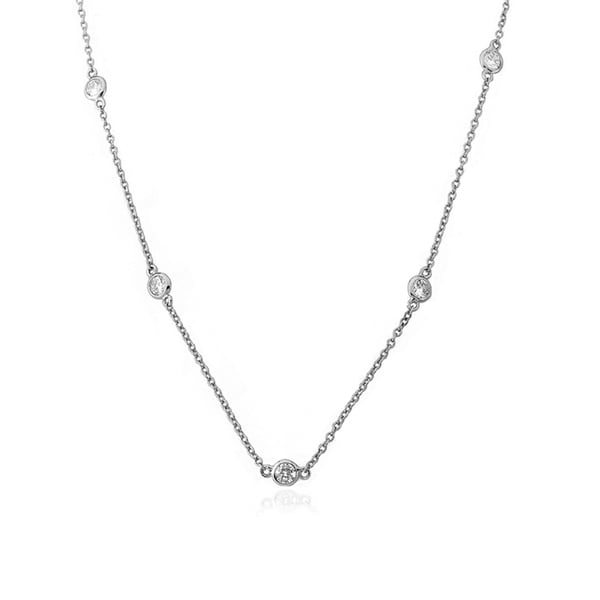 Riccova Radiance Bijou by the Yard Brass Cubic Zirconia Retro 16-inch Chain Necklace