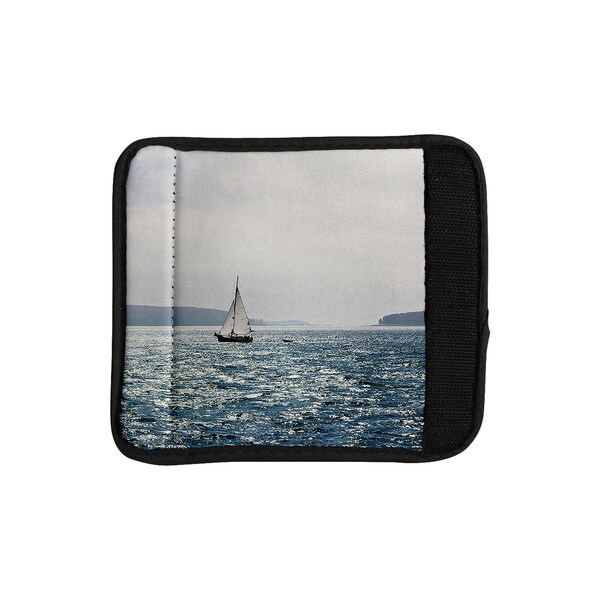 KESS InHouse Jillian Audrey 'Sail the Sparking Seas' Blue Gray Luggage Handle Wrap
