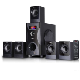 beFree Sound Black 5.1 Channel Surround Sound Bluetooth Speaker System