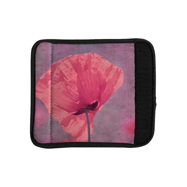KESS InHouse Iris Lehnhardt 'Poppy' Pink Flower Luggage Handle Wrap