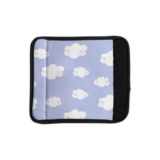 KESS InHouse Heidi Jennings 'Happy Clouds' White Blue Luggage Handle Wrap