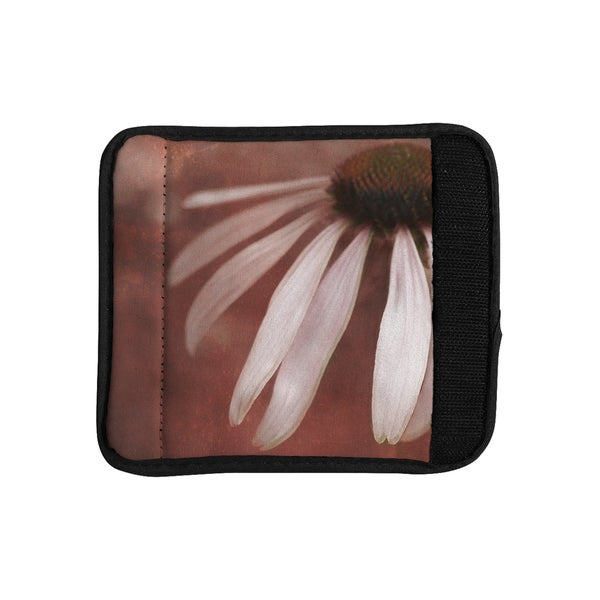 KESS InHouse Iris Lehnhardt 'Copper and Pale Pink' Brown Flower Luggage Handle Wrap