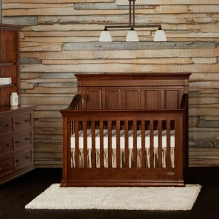 Evolur Napoli Brown Wood 5-in-1 Convertible Crib